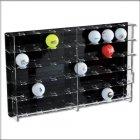 Vitrine für 40 Golfbälle aus Acrylglas 450x290x55 mm Golfballvitrine SAFE 5246