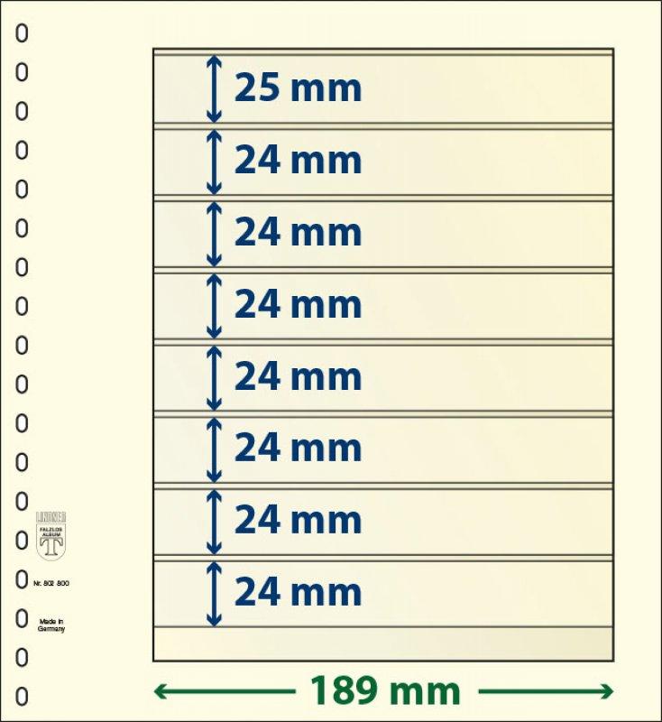 T-Blanko-Blätter 8 Taschen 802800P Lindner Vorteilspreis