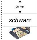 Klarsichthüllen für Banknoten 3 Taschen glasklar / schwarz  Lindner 851P