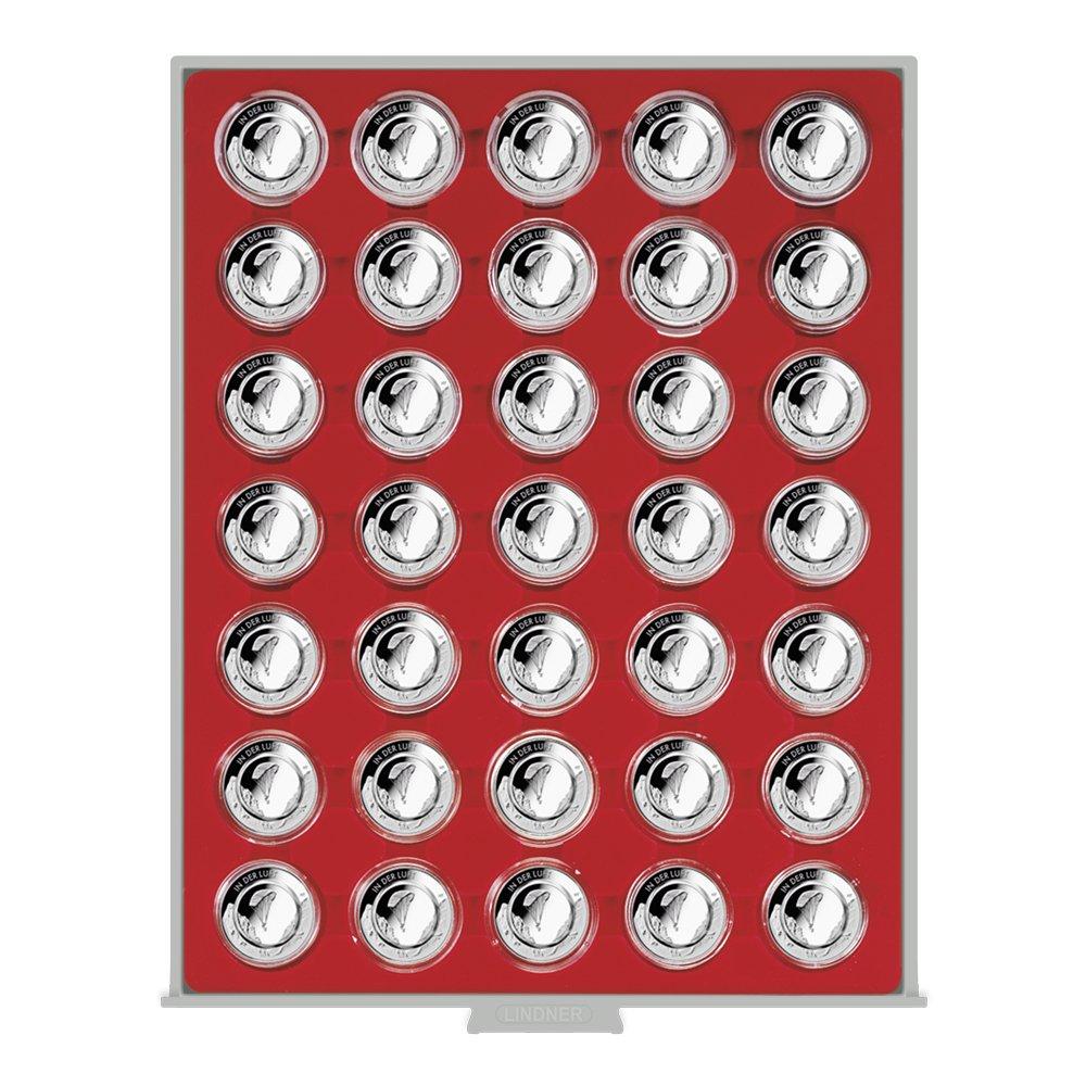 Münzbox Standard 36 mm 10 Euro Luft bewegt in Kapsel Lindner 2225