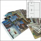 Postkartenalbum Ersatzblätter 4-er Teilung 15 Stück SAFE 5471