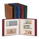 Banknoten Ringbinder mit 20 Blatt weiß Lindner 2810-