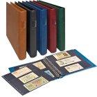 Banknoten Ringbinder mit 20 Blatt schwarz Lindner 2815-