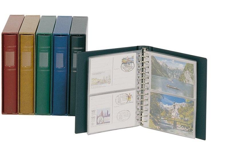 Ringbinder CLASSIC Postkarten mit 20 Blatt und Kassette Lindner 1131-