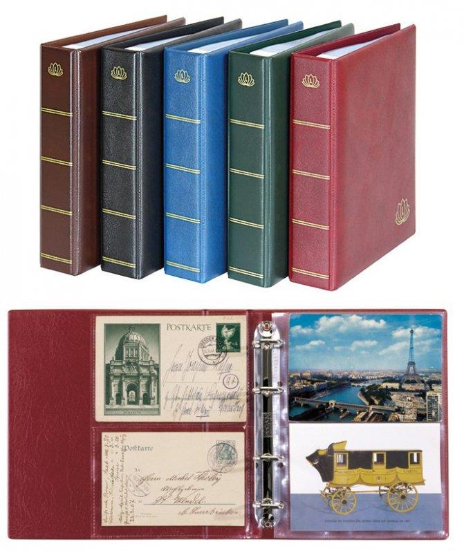 Ringbinder LOTOS Postkarten mit 50 Blatt Lindner 5800-