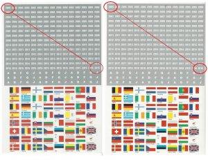 Kennzeichnungs-Set Flaggen EUROPA Aufkleber SAFE 1860