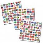Kennzeichnungs-Set Flaggen ganze WELT Aufkleber SAFE 1862