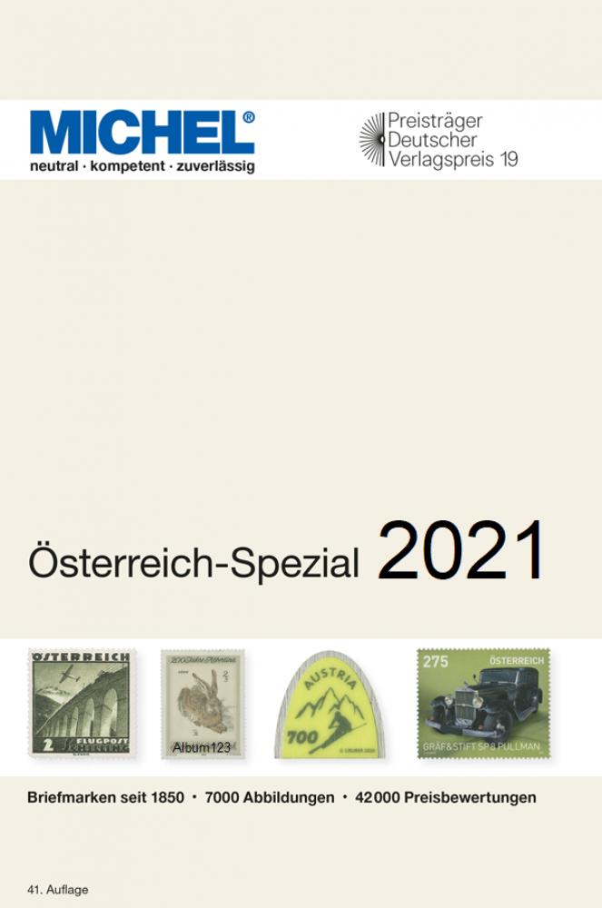 MICHEL  Österreich Spezial 2021 Briefmarkenkatalog