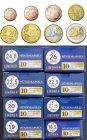 LINDNER Münzkapseln  für 10x €-Sätze = 80 Kapseln
