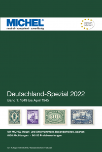 MICHEL  Deutschland Spezial 2020 Band 1 1849 bis April 1945 Briefmarkenkatalog