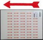 Hinweispfeile Rot Aufkleber 28x6mm 100 Stück Lindner 802020