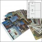 Postkartenalbum Ersatzblätter 4-er Teilung 50 Stück SAFE 5471-50