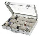 Alukoffer Uhrenkoffer für 18 Uhren innen Sandfarben SAFE 266-2