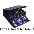 Schubladen-Schatulle Box Kassette Truhe in edler Klavierlack-Optik schwarz SAFE 6590
