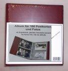 Album für 80-160 Postkarten Ansichtskarten Fotos KOBRA PK3 ROT