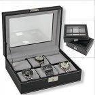 Kassette für  6 Uhren Schwarz / Grau SAFE 217-1