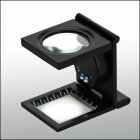 Fadenzähler Lupe 3,5-fach 10dpt Metall 27mm Glaslinse mit LED-Beleuchtung SAFE 4636