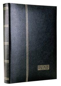 Einsteckbuch 60 schwarze Seiten Elegant LEDER LINDNER 1185L
