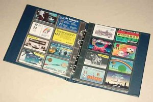 Telefonkarten-Album 250x270x45mm inkl.10 Seiten KOBRA G29