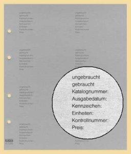 Telefonkarten-Zwischenblatt GRAU mit Aufdruck VPE 10 Stück KOBRA G28D