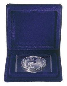 Münzetui  75x75x12 für Münzen bis 40mm Blau Lindner 2020