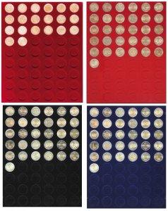 Veloureinlage Velourseinlage Einsatz für 20mm Münzbox Lindner alle Typen