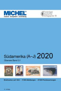 MICHEL Übersee Katalog ÜK3/1 Südamerika Band 1 A-J 2020 Briefmarkenkatalog