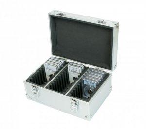 ALU Koffer für 30 SLABS 245x180x125 mm MIT Griff Lindner S2330