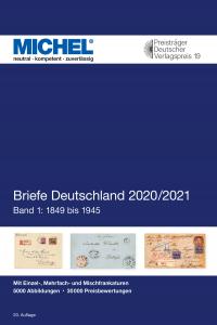 MICHEL Deutschland Briefe Katalog Band 1 (bis 1945) 2020 2021