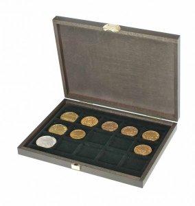 Münzkassette 250x190x30 CARUS XM Holz für 15 Münzen Lindner S2489-15