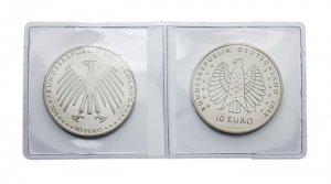 Münztäschchen Münztaschen Doppel-Hüllen 47x48 mm 100 Stück LINDNER 2054