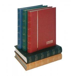 Einsteckbuch 60 schwarze Seiten Nubuk LINDNER 1181