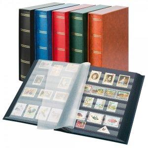 Einsteckbuch 60 schwarze Seiten MIT Kassette LINDNER 1169SK