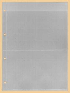 Einsteckblätter A4 glasklar 2 Taschen Kobra E12