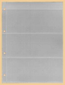Einsteckblätter A4 glasklar 3 Taschen Kobra E13