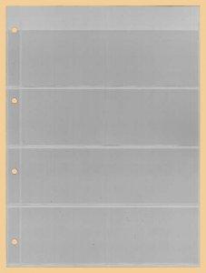 Einsteckblätter A4 glasklar 4 Taschen Kobra E14