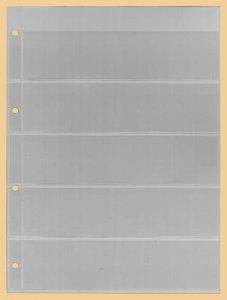 Einsteckblätter A4 glasklar 5 Taschen Kobra E15