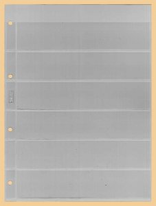Einsteckblätter A4 glasklar 6 Taschen Kobra E16