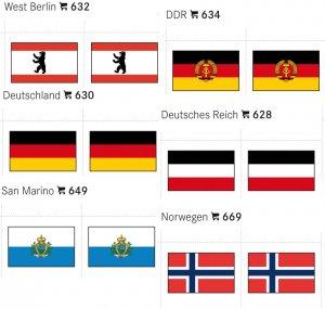 Flaggensticker 24 x 38 mm 6,er-Packung LINDNER