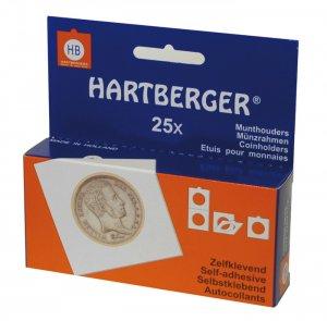 Münzrähmchen 50x50mm selbstklebend VPE  25 Stück HARTBERGER®