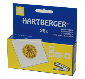 Münzrähmchen 67x67mm zum Heften VPE  25 Stück HARTBERGER®
