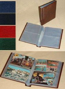 Postkarten Druckknopfalbum mit 40 Seiten KOBRA G30