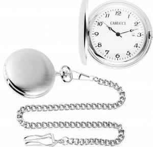 Taschenuhr Silbern Handaufzug von CARUCCI CA2219SL