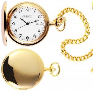 Taschenuhr Golden Handaufzug von CARUCCI CA2219GD