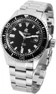 PREISHAMMER Armbanduhr Schwarz Silber Edelstahl CARUCCI CA2217