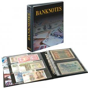 PUBLICA M Ringbinder Banknotendesign mit 20 Blatt Lindner 3537