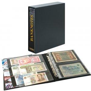 PUBLICA M Ringbinder + Kassette Banknotendesign mit 20 Blatt Lindner 3537E