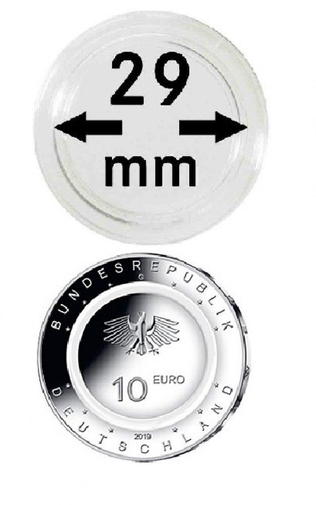 Münzkapseln für 10 €/Euro Polymerring 29mm VPE 10 Stück