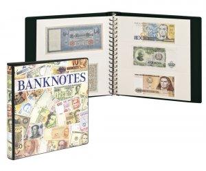 Banknoten Ringbinder mit 10 Blatt weiße Zwischenblätter Lindner 3701W