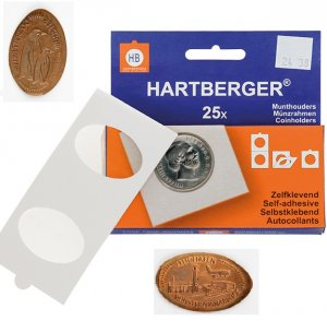 Münzrähmchen 50x50mm pressed Pennys VPE  25 Stück HARTBERGER®